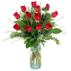 regalo flores rojas san valentin