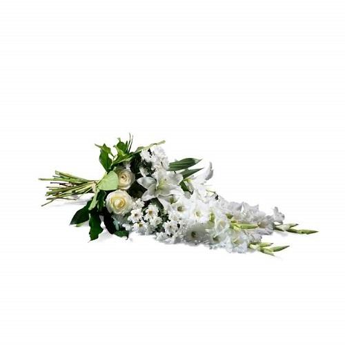 Ramo horizontal de flores blancas para el día de los Santos