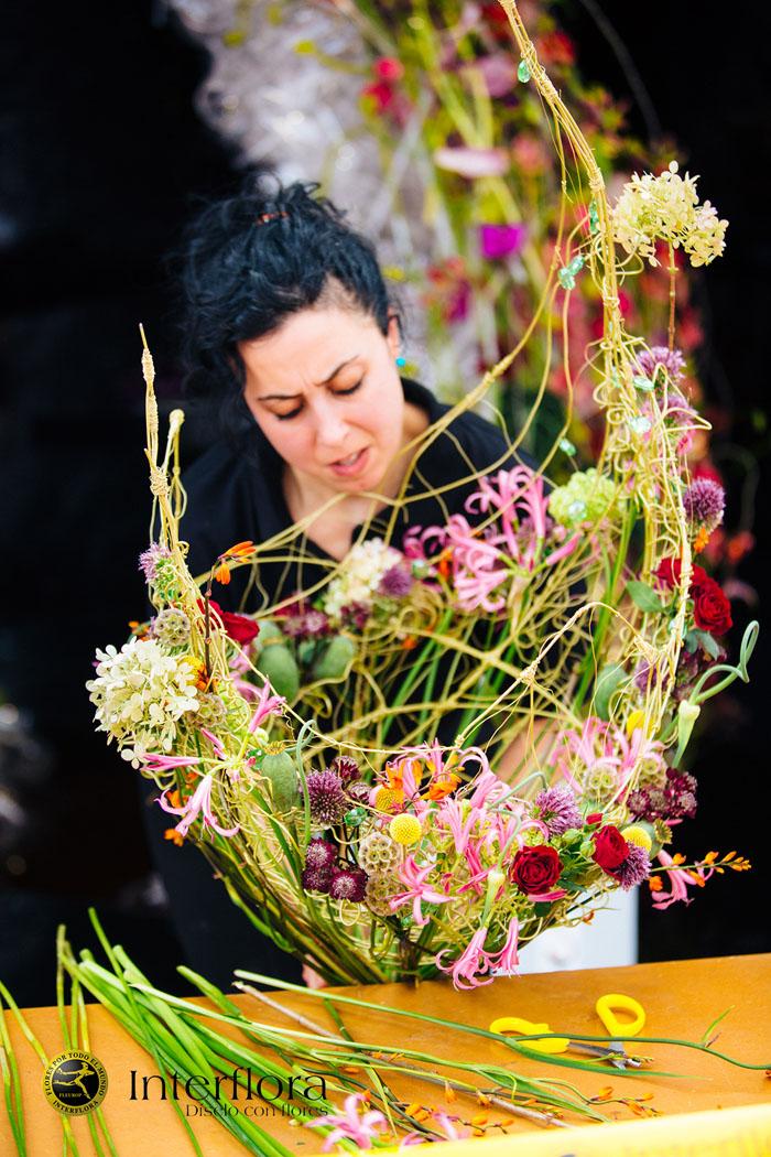 Copa diseño floral interflora