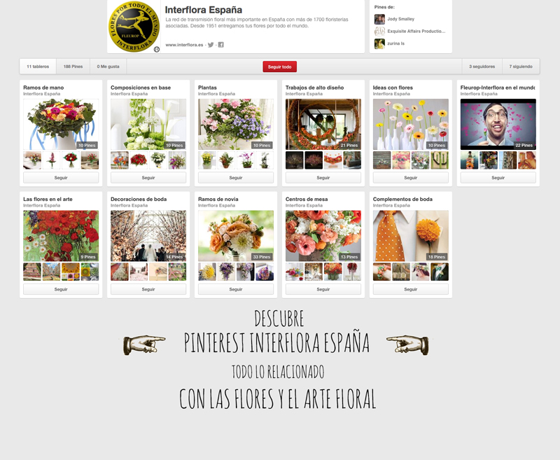 Interflora españa pinterest
